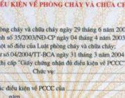 Thủ xin giấy chứng nhận đủ điều kiện phòng cháy chữa cháy
